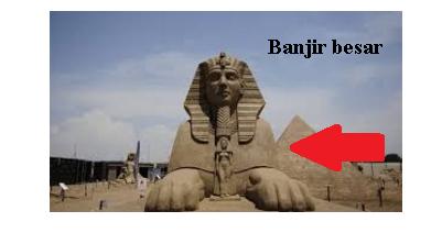Geger..! Bukti Bencana Banjir Nuh Adalah Patung Sphinx