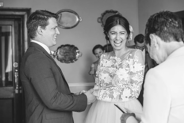 A cute civil ceremony at Brooks Country House in Herefordshire | byGarazi | Birmingham Wedding Photographer