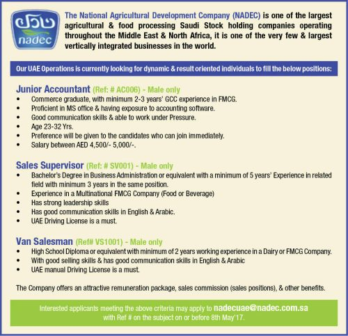 Required in UAE - job at gulf