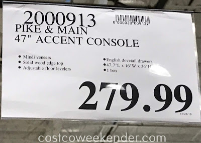 Deal for the Pike & Main 47in Accent Console at Costco