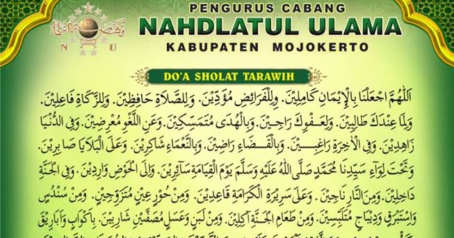 Doa Tarawih Bahasa Indonesia - Toast Nuances