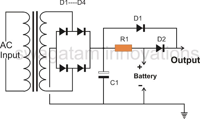 mains failure battery backup circuit electronic circuit projects