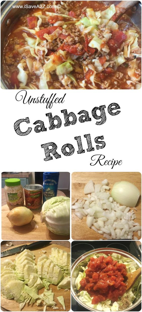 Try our easy healthy unstuffed cabbage rolls recipe for dinner! We have added a few more ingredients to give this old time favorite the wow factor! Keto Friendly Soup Ideas worth trying! #keto #unstuffedcabbage #healthy #lowcarb #cabbage #unstuffed
