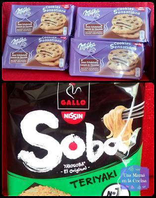 Milka Cookies Sensation y YakiSoba de Gallo