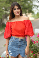 Rhea Chakraborty in Red Crop Top and Denim Shorts Spicy Pics ~  Exclusive 255.JPG
