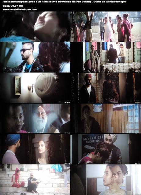Manmarziyaan 2018 Full Hindi Movie Download Hd Pre DVDRip 700Mb on worldfree4upro