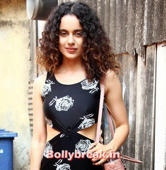Kangana Ranaut, Kangana Ranaut in Black dress promote Revolver Rani