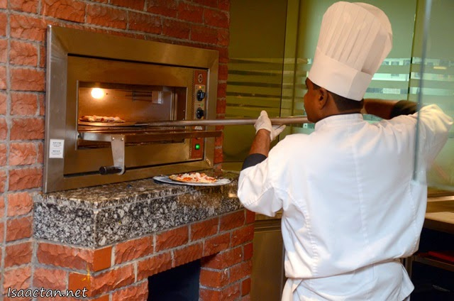Each pizza is baked to perfection in their stove