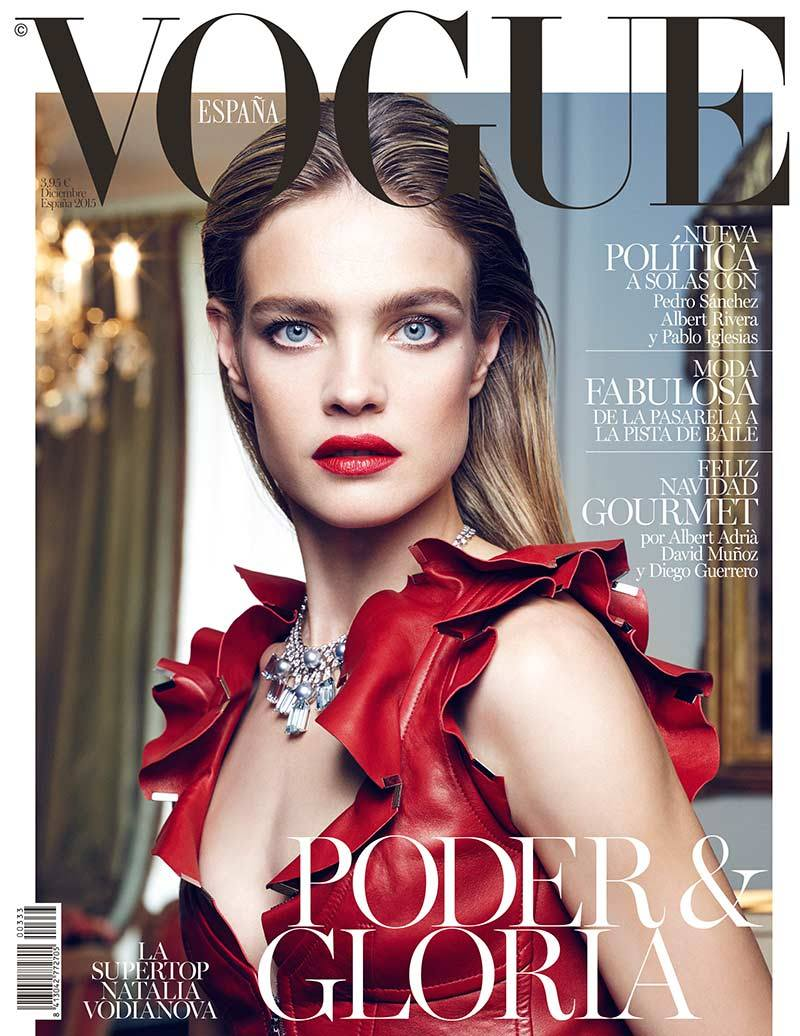 vogue vodianova natalia covers portada revista spain espana december russian diciembre paris september italia revistas espanol november