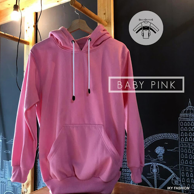 Model  Jaket Sweater pink pria dan wanita kekinian