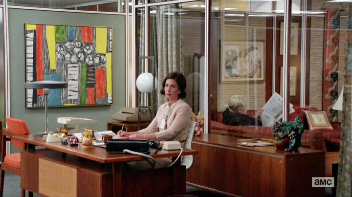 The art on Bertu0027s secretaries office has all the colours of the palette but the yellow is really vibrant. The art is reflecting the conflict between Pete ... & Mad Men | eco-friendly wedding ideas