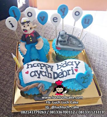 Cupcake Ulang Tahun Popeye si Pelaut