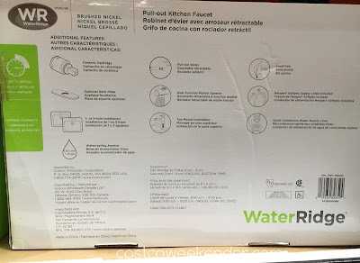 Costco 962791 - WaterRidge Euro Style Pull-out Kitchen Faucet saves water and money for your household