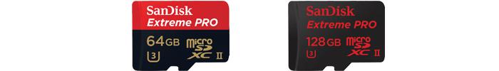 サンディスク「Extreme PRO UHS-II」マイクロSDカードの商品ラインナップ