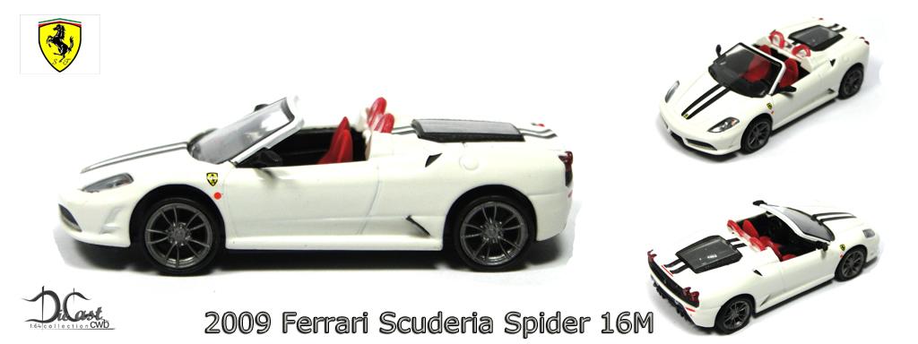 Diecast Cwb 164 Collection 2009 Ferrari Scuderia Spider 16m