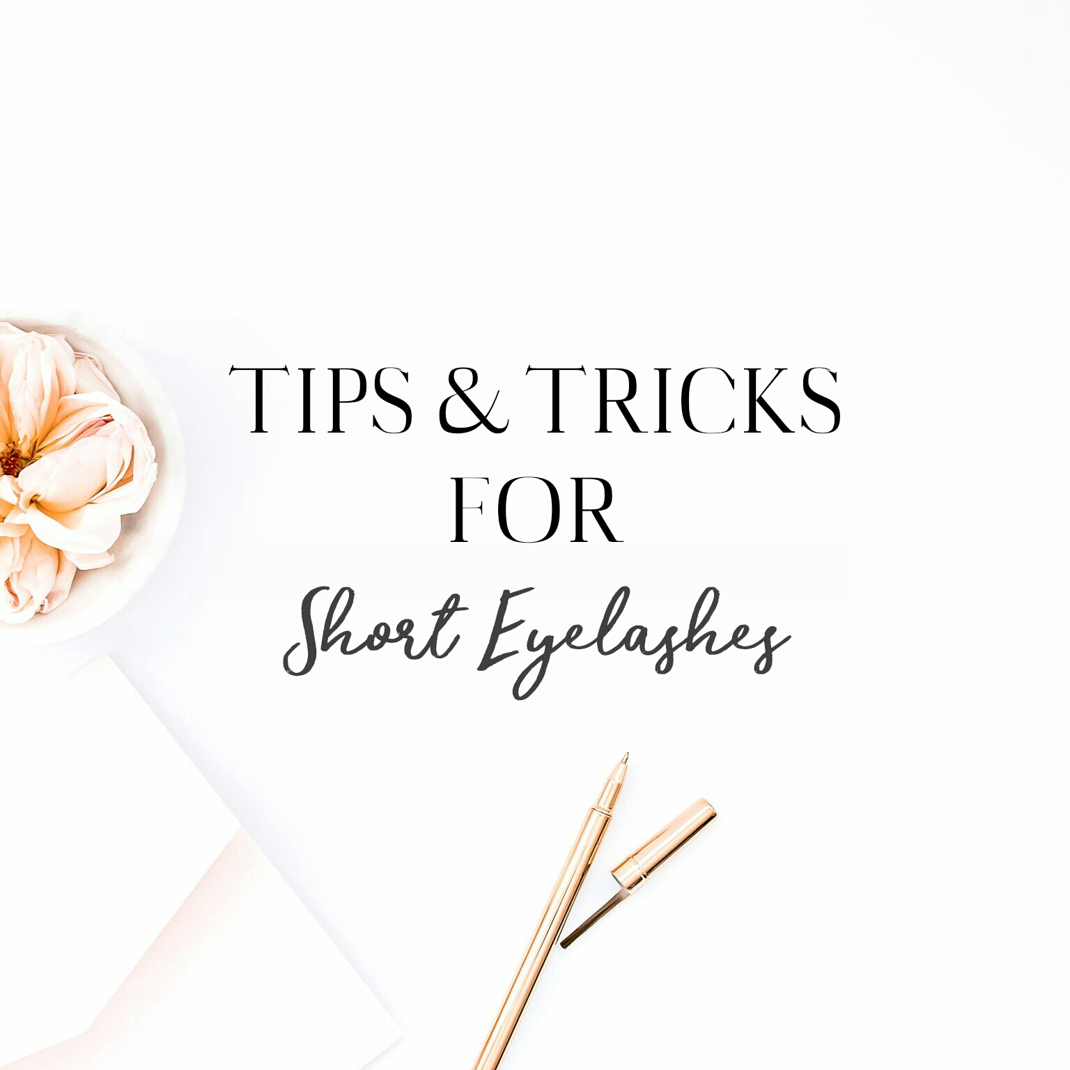 Tips & Tricks For Short Eyelashes | Lenne Zulkiflly