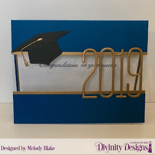 Divinity Designs Stamp Set: The Future, Custom Dies: Grad, Long & Lean Numbers
