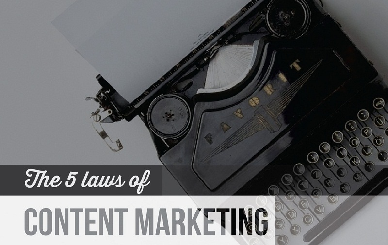 The 5 Laws Of Content Marketing - #Infographic