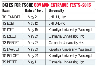 TS CETs to Start on May 2nd Cet Dates in Telangana