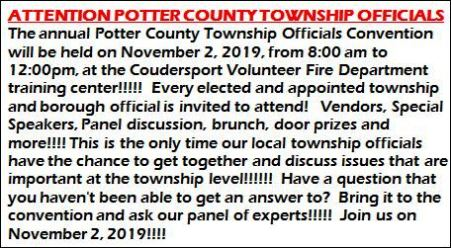11-2 Potter County Township Officials Convention