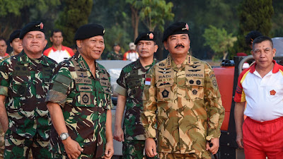 Panglima TNI Tinjau Gladi Bersih Tari Gemu Famire Pemecahan Rekor Muri