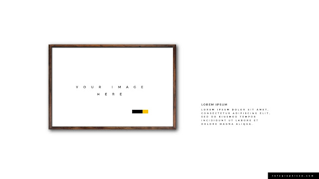 Realistic Wooden Photo Frame Mockup for PowerPoint Type B