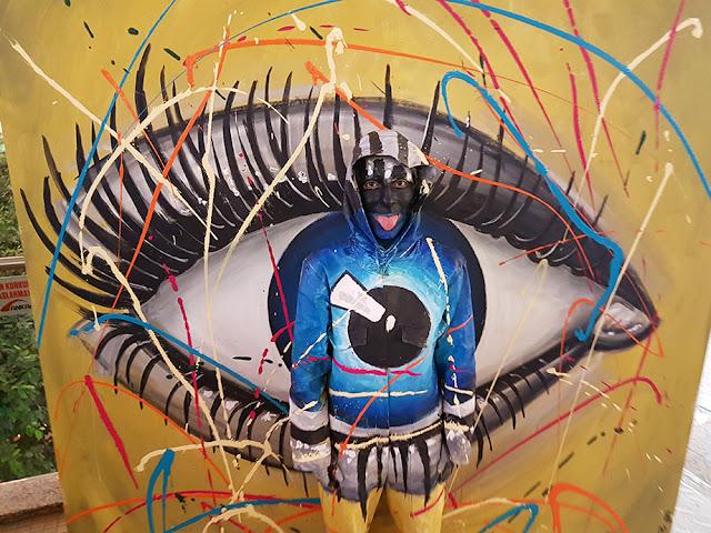 3D Art series - Ben Heine Art - Invisible Camouflage - Eye - Ankamall