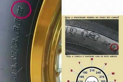 Semak Tayar Kereta Anda Untuk Tahu Berapa Laju Maksima Boleh Dipandu!