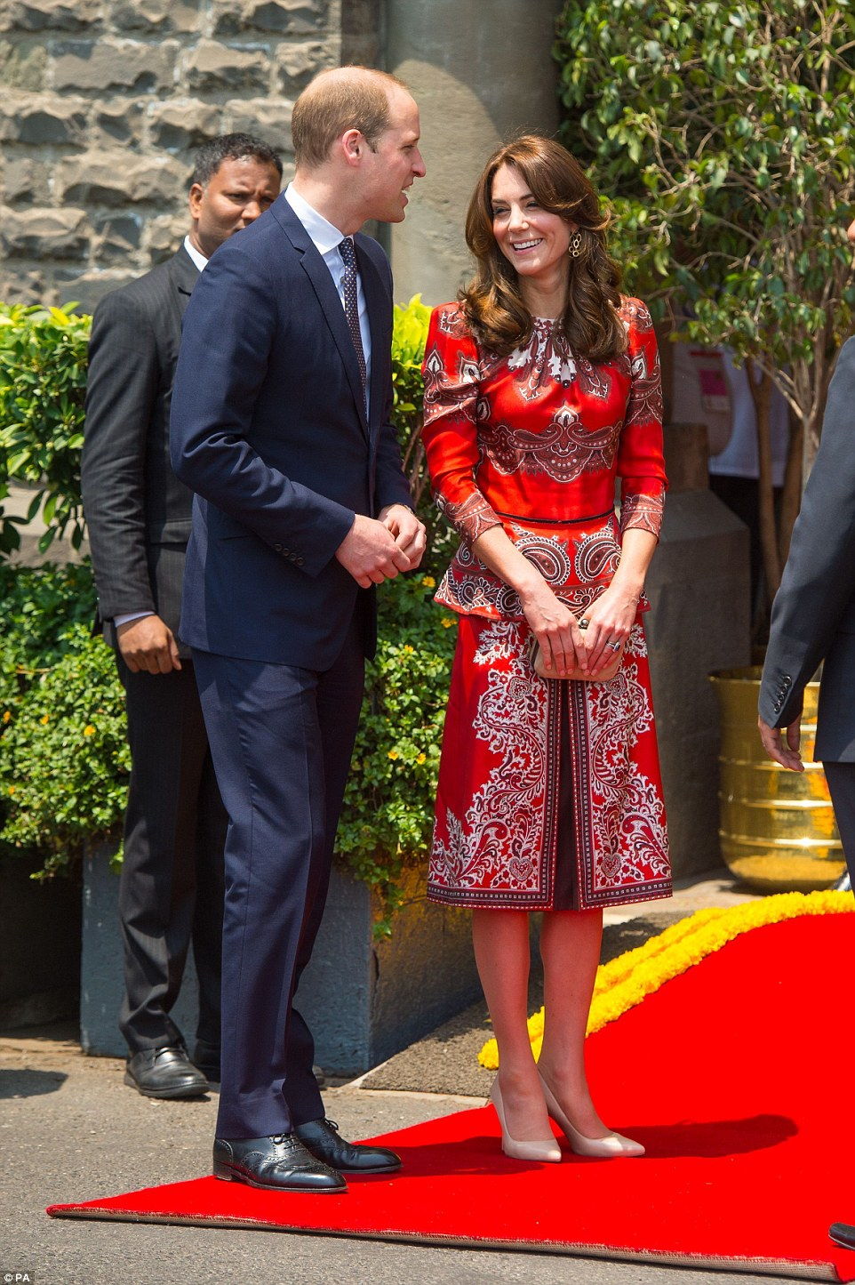 Duchess Kate and Prince William in India