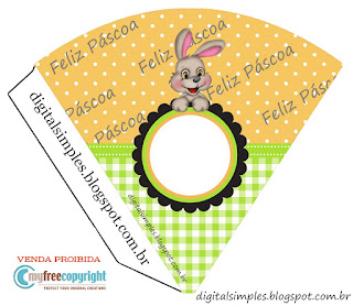 Funny Easter  Free Printable Cones.