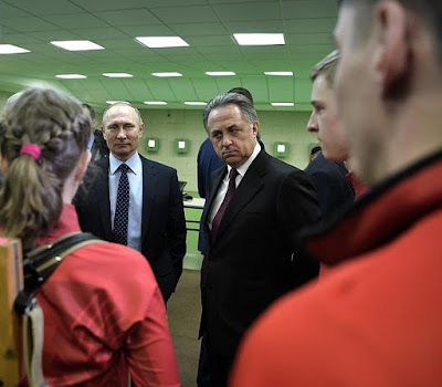 Vladimir Putin in Biathlon Academy.