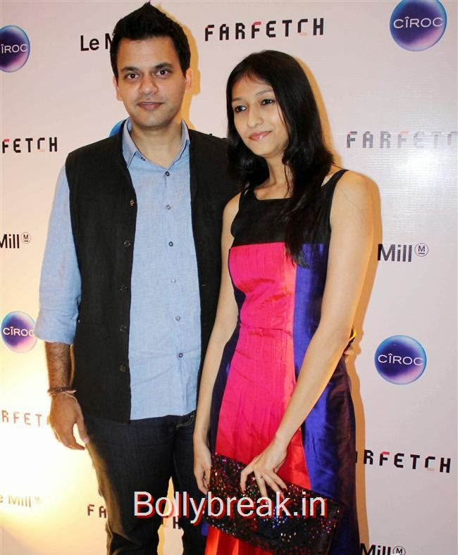 Nachiket Barve along with his wife Surabhi, Sonam, Jacqueline attend Farfetch Superstore Le Mill Launch