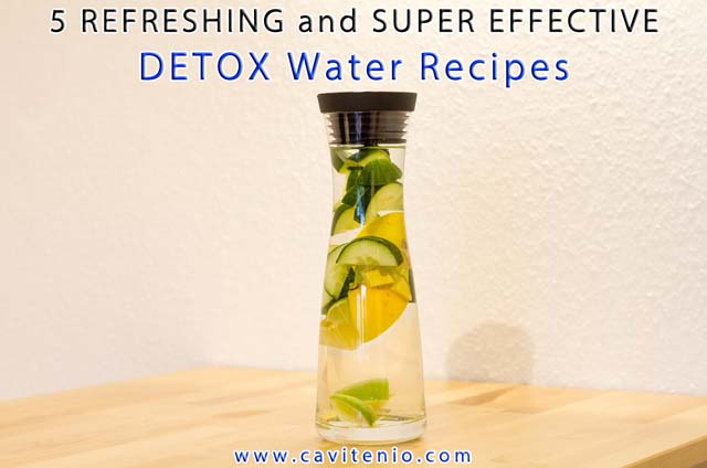 DETOX Water Recipes For Flat Belly, Craving Control, Cleansing, Slimming Down and Fat Burning - Cavitenio.Com