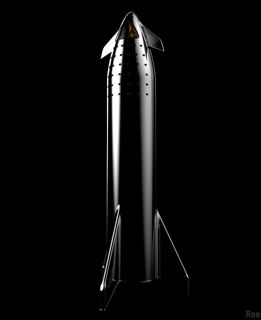 SpaceX black Starship by Reese Wilson