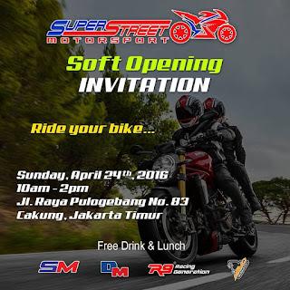 BENGKEL MOGE JAKARTA Soft Opening DM Motor