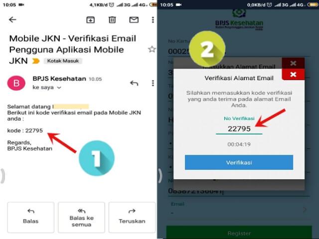 kode verifikasi email aplikasi mobile JKN