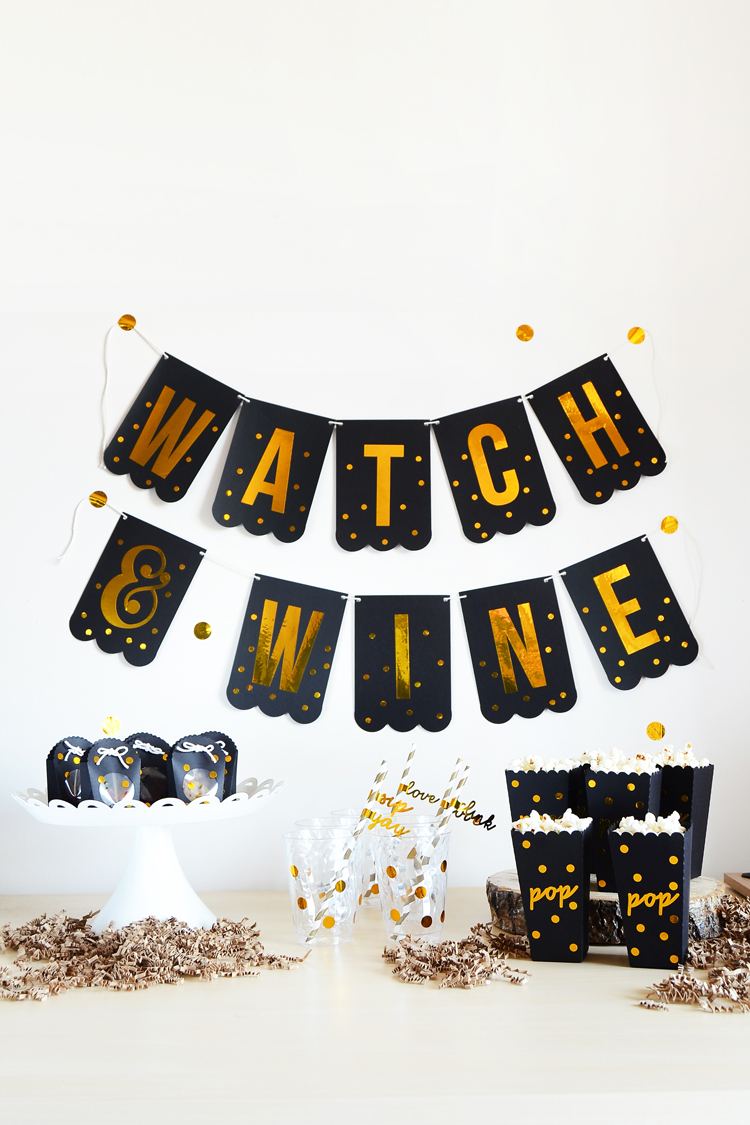 movie night treat bar DIY at Silhouette Blog