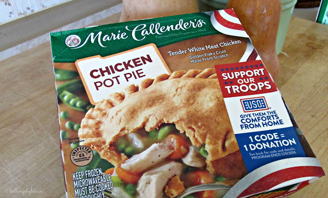 USO Comforts From Home Code on Specially Marked Boxes of Marie Callender's Meals and Desserts