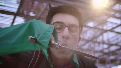 Ranbir Kapoor Knife Action HD Wallpaper