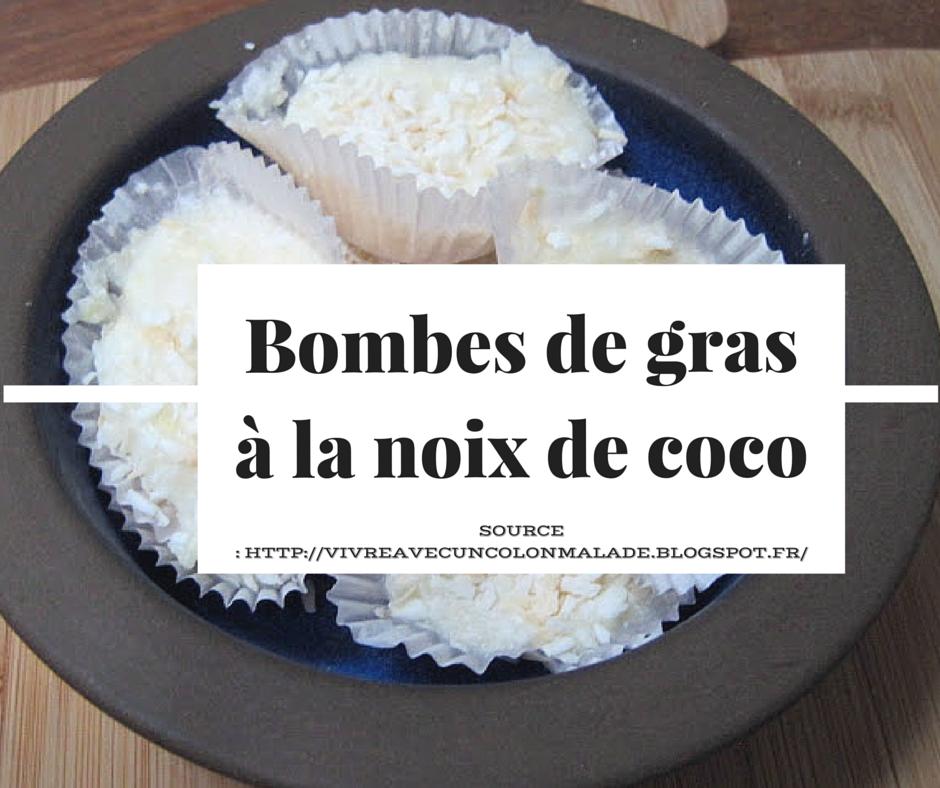bombes de gras (fat bomb) à la noix de coco
