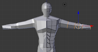 Adjusting arm proportions.