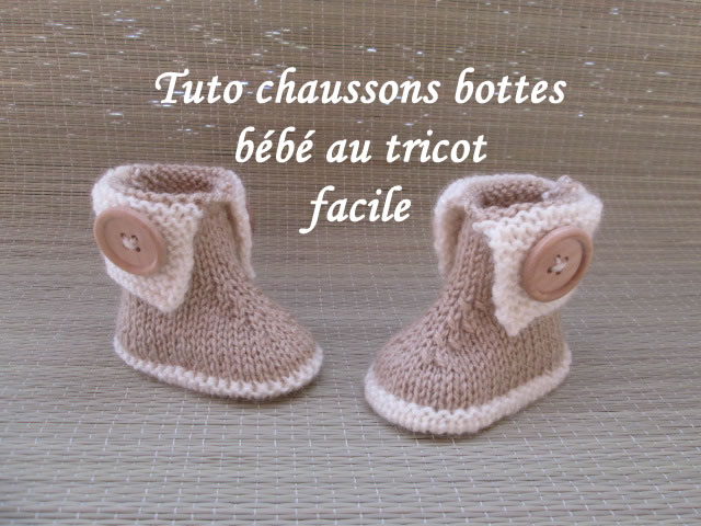tuto chaussons bebe. Black Bedroom Furniture Sets. Home Design Ideas