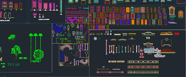 AUTOCAD elevation library in AutoCAD