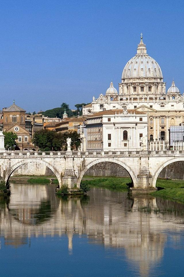 Tiber River Flowing Through Vatican City