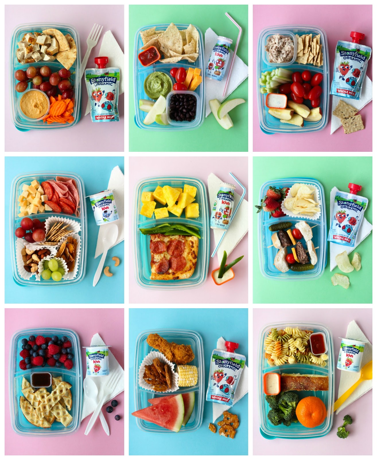 Say so long to sandwiches with this fun collection of No Sandwich Lunchbox Ideas that kids will love!  AD #lunchbox