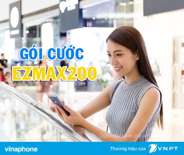 Đăng ký gói Ezmax200 Vinaphone