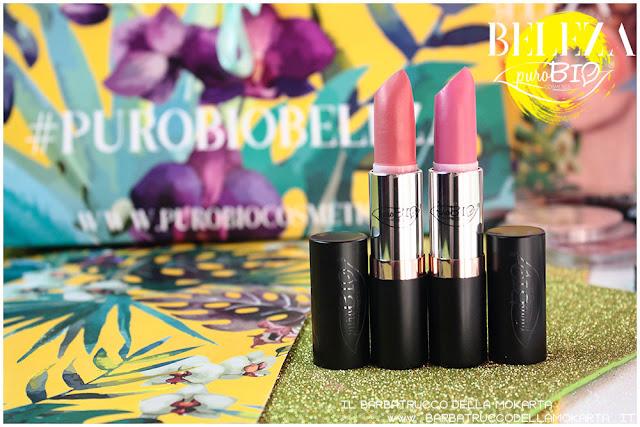 beleza purobio collezione  lipstick 9 e 10 magenta chiaro rosa scuro