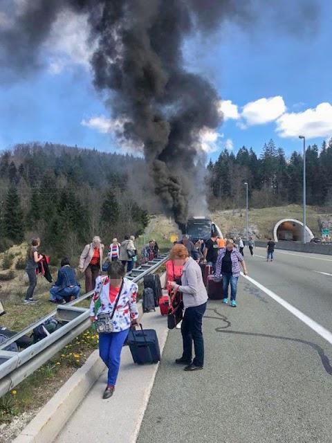 Kigyulladt egy magyarokat szállító autóbusz Horvátországban, senki sem sérült meg