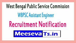 West Bengal Public Service Commission WBPSC Assistant Engineer Recruitment Notification 2017