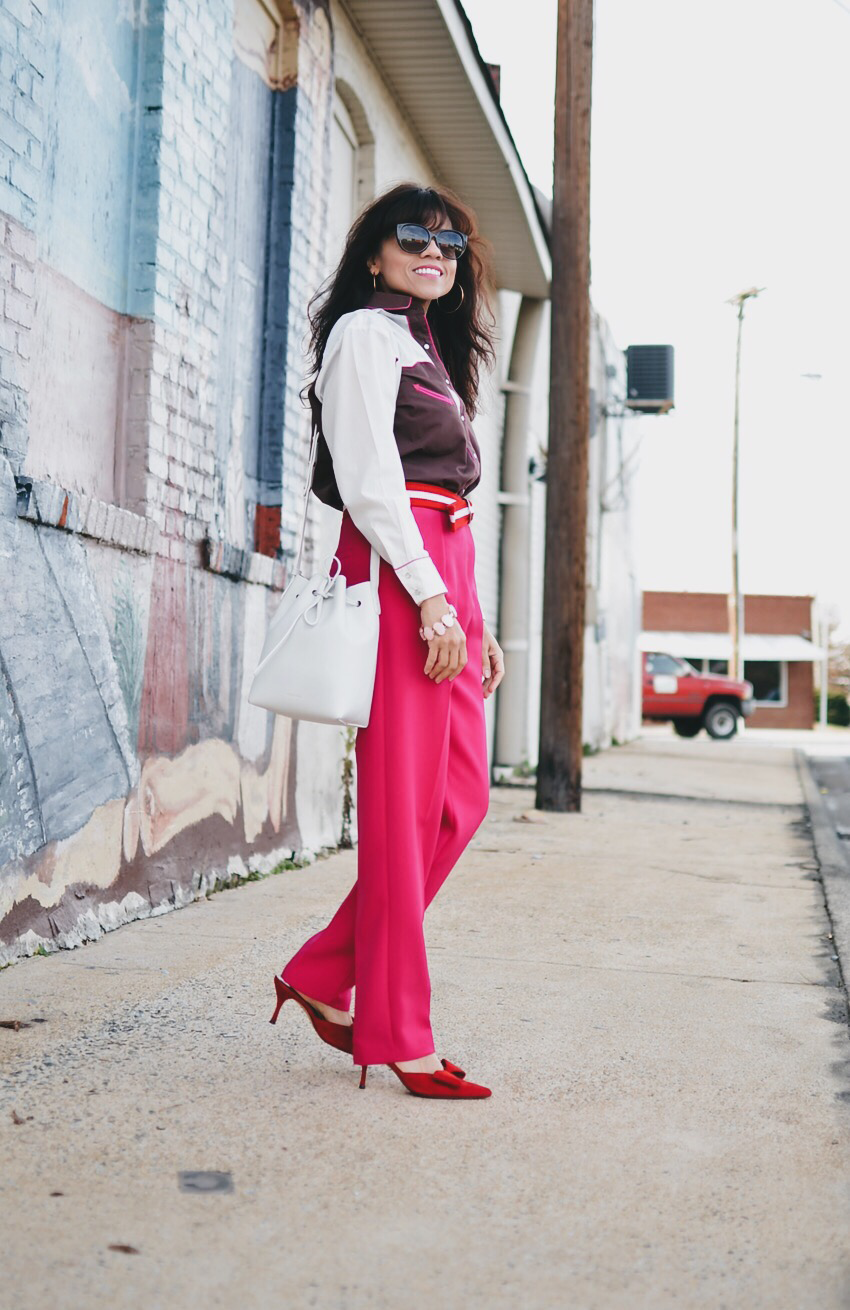Pink pants street style